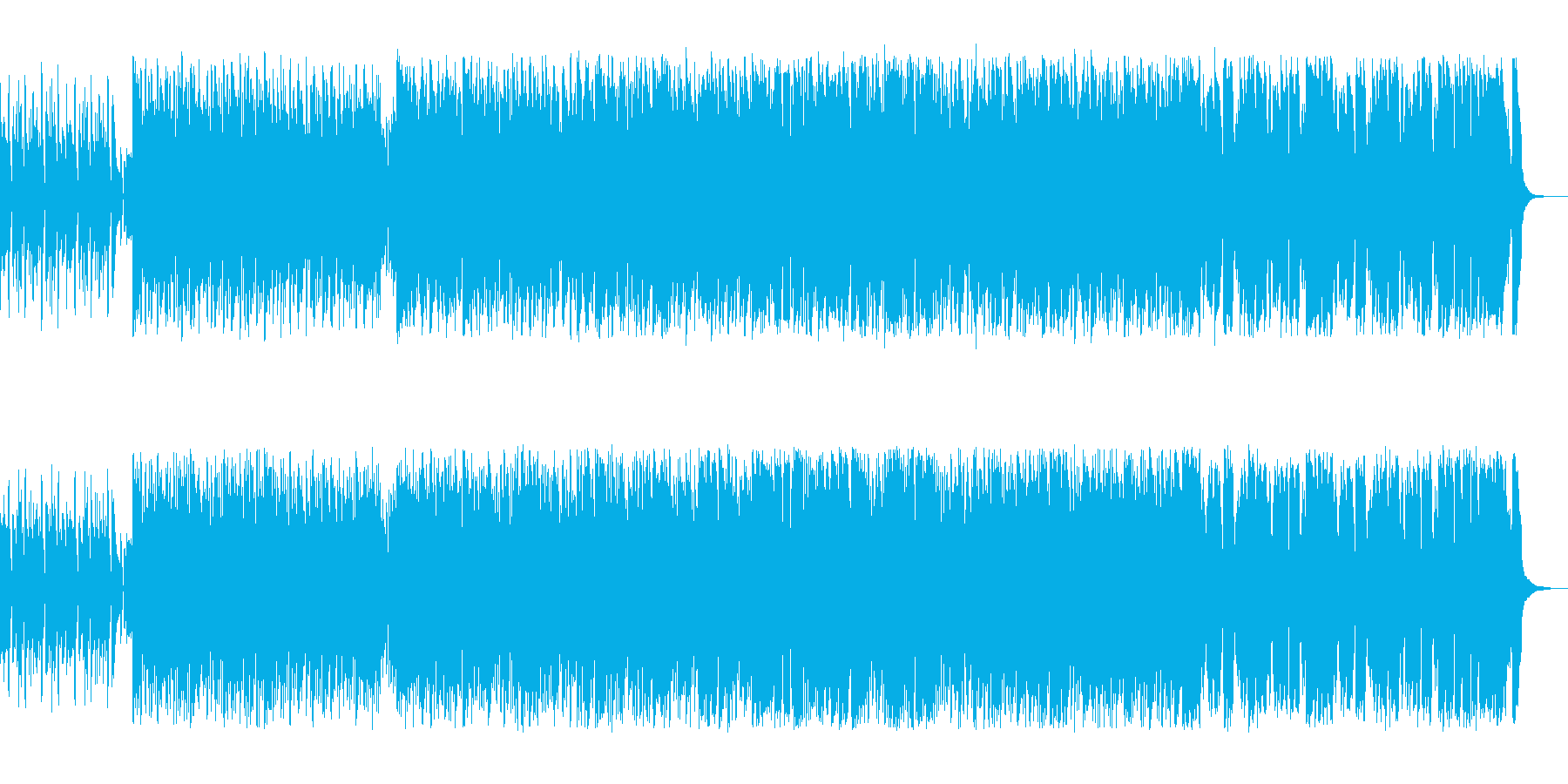 モダンな軽快な感じのするポップスの再生済みの波形