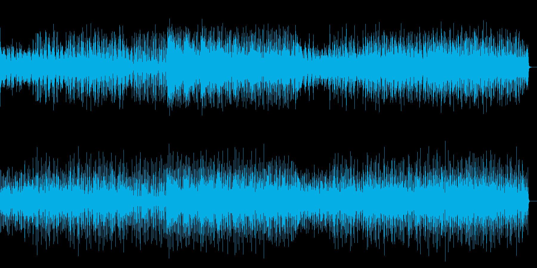 リズム感のある親しみやすいテクノの再生済みの波形