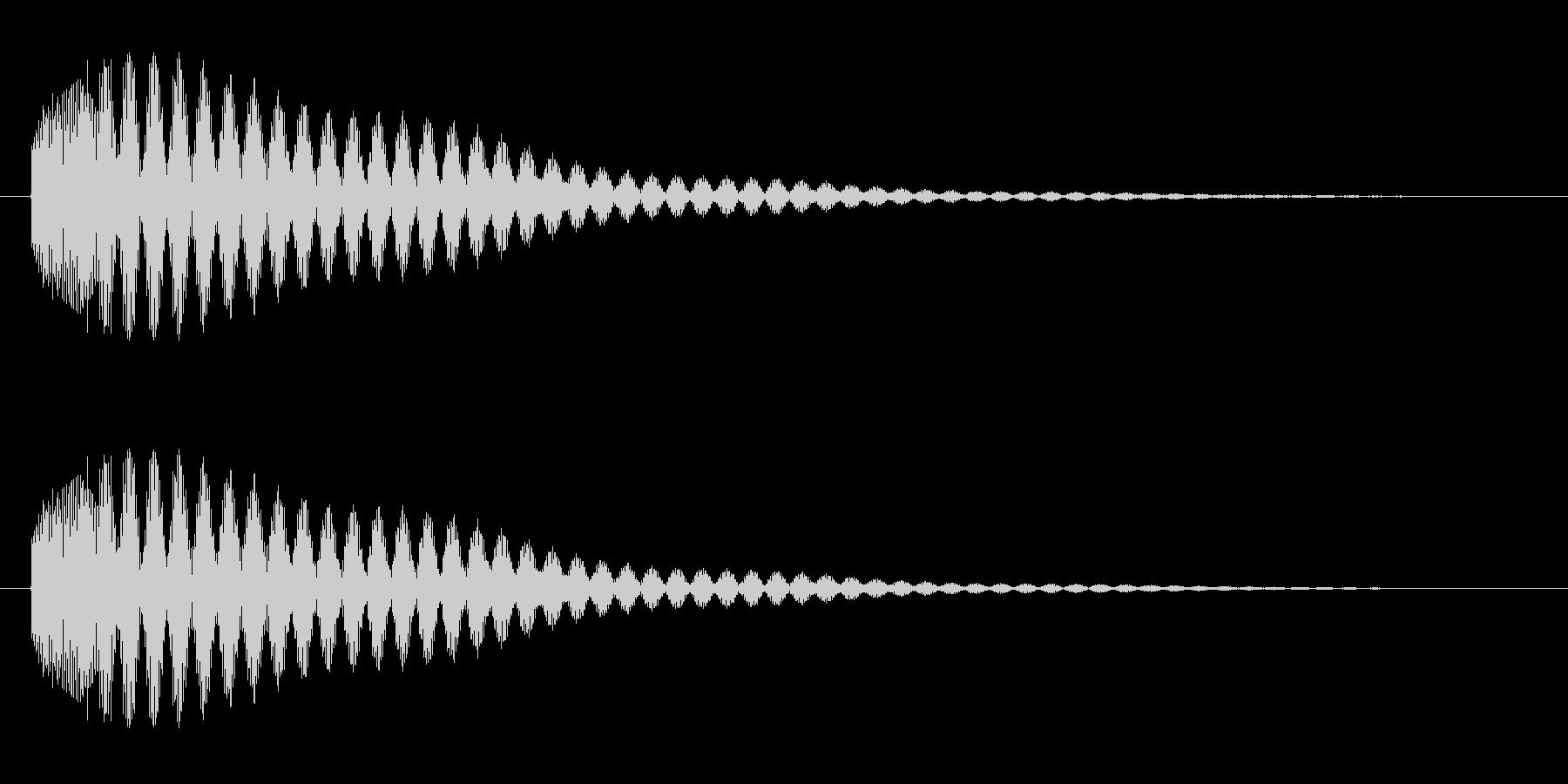 ピ〜ン(エレベーターの到着チャイム音)の未再生の波形