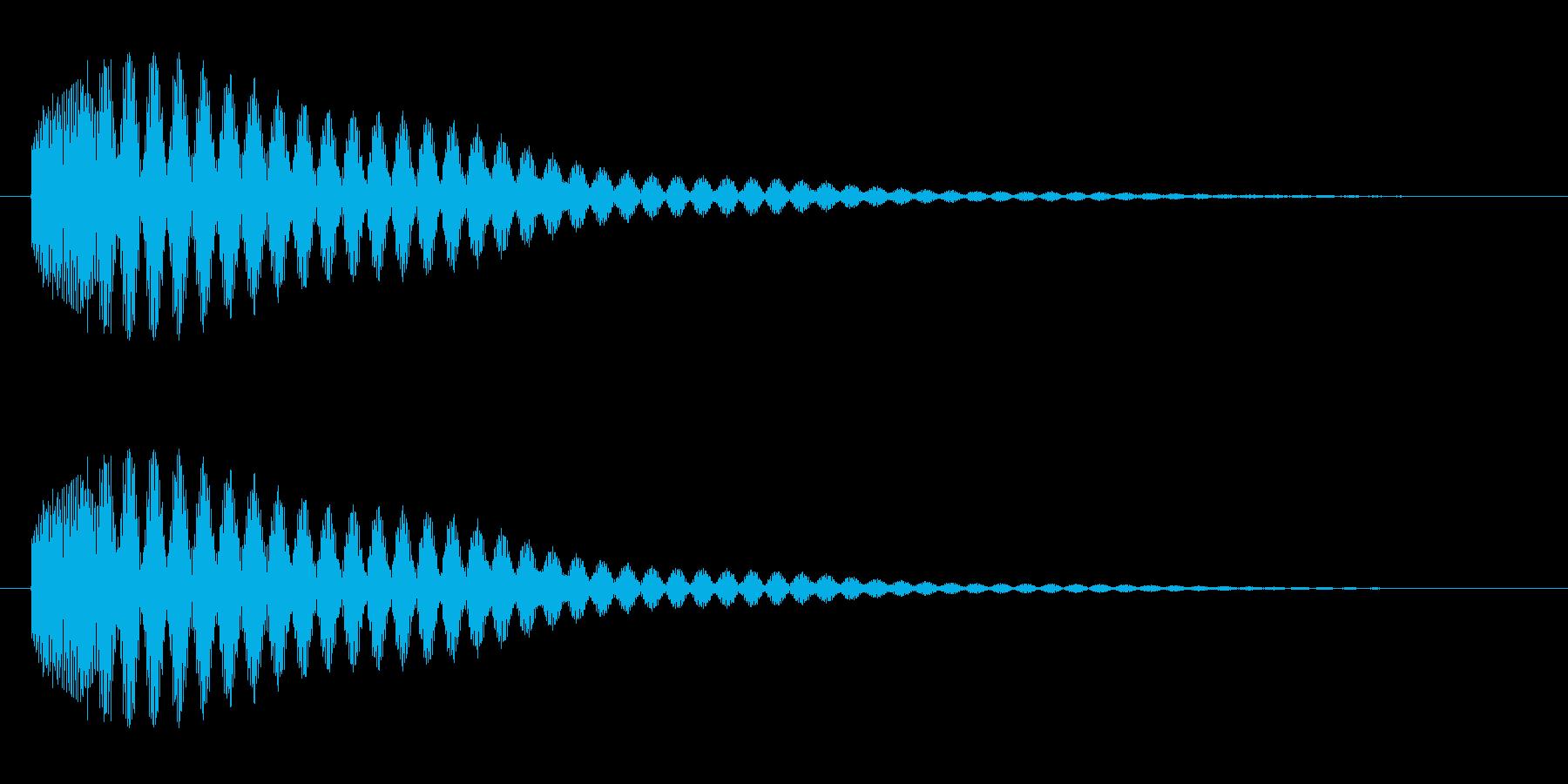 ピ〜ン(エレベーターの到着チャイム音)の再生済みの波形