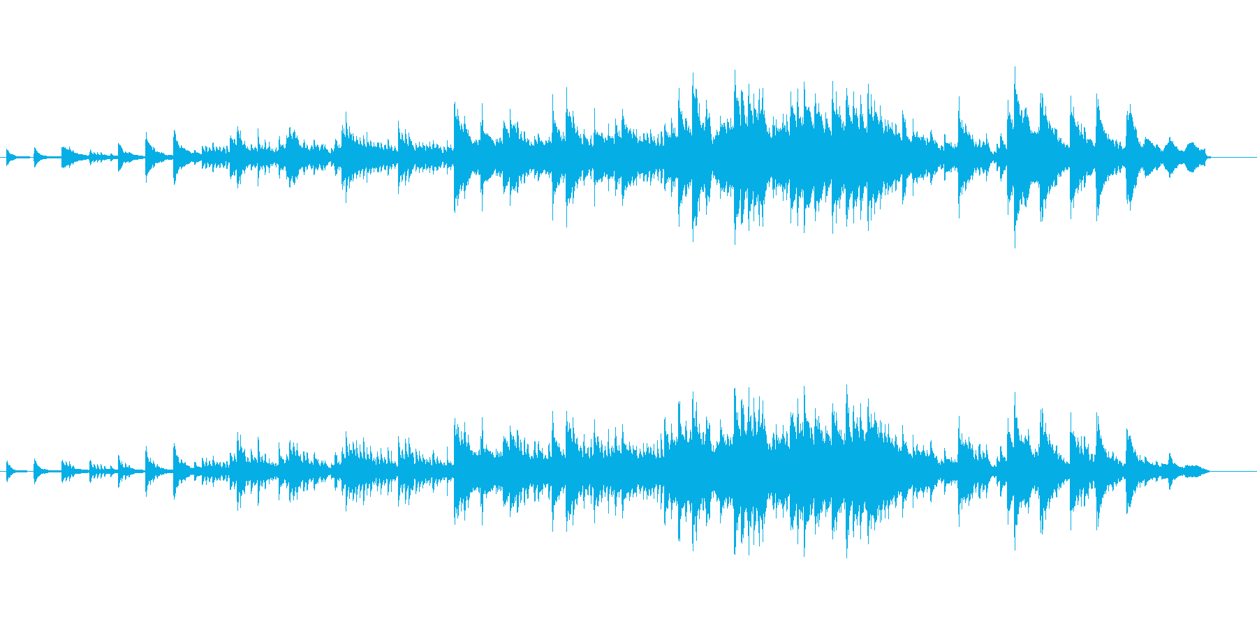 優美かつオリエンタルなピアノアンサンブルの再生済みの波形
