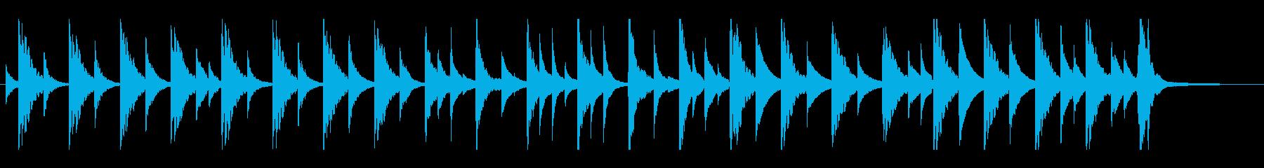 しっとりさびしい切ない回想シーンの再生済みの波形