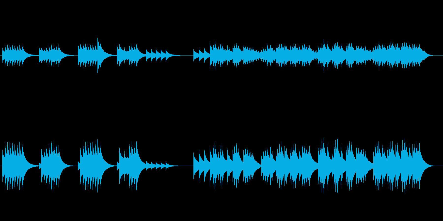 花の季節/悲しき天使(オルゴールアレンジの再生済みの波形