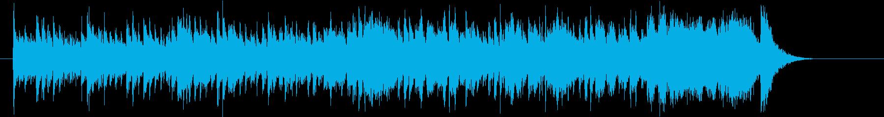 ゆったりとした明るい音楽の再生済みの波形