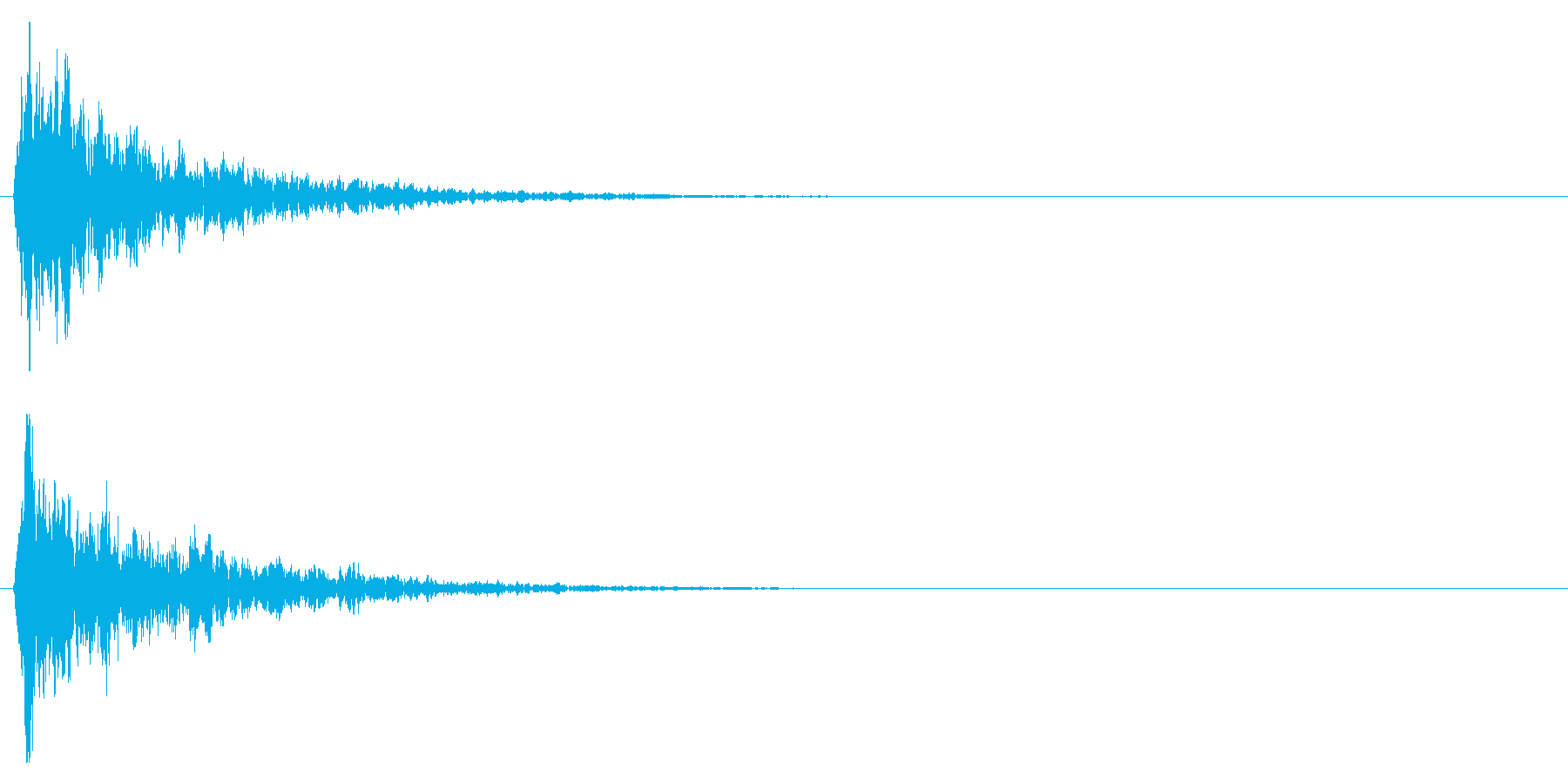 拍子木一丁_02の再生済みの波形