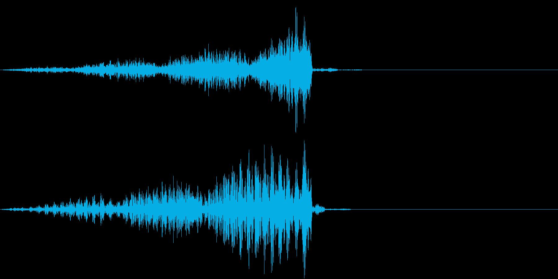 緊張のうねりの再生済みの波形