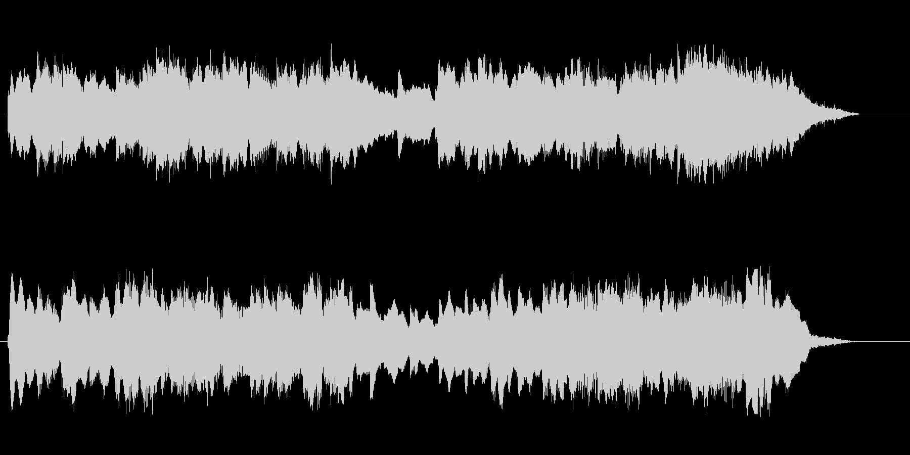 優しい音色のシンセのバラードのジングルの未再生の波形