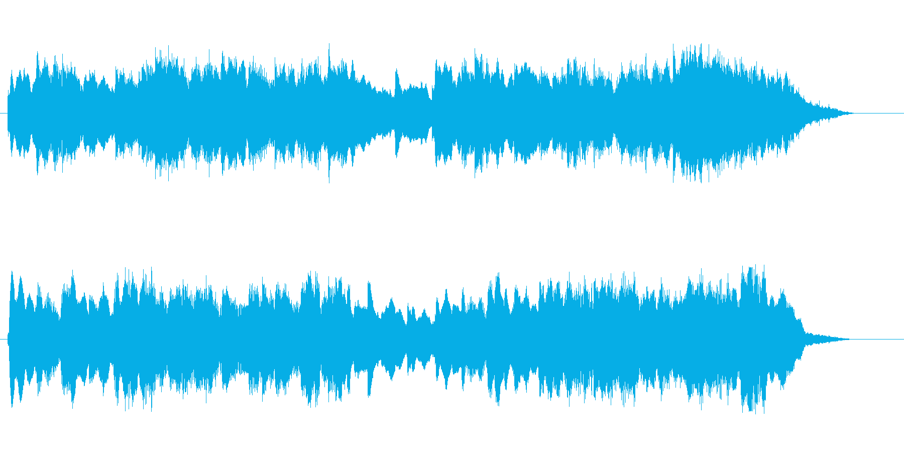 優しい音色のシンセのバラードのジングルの再生済みの波形