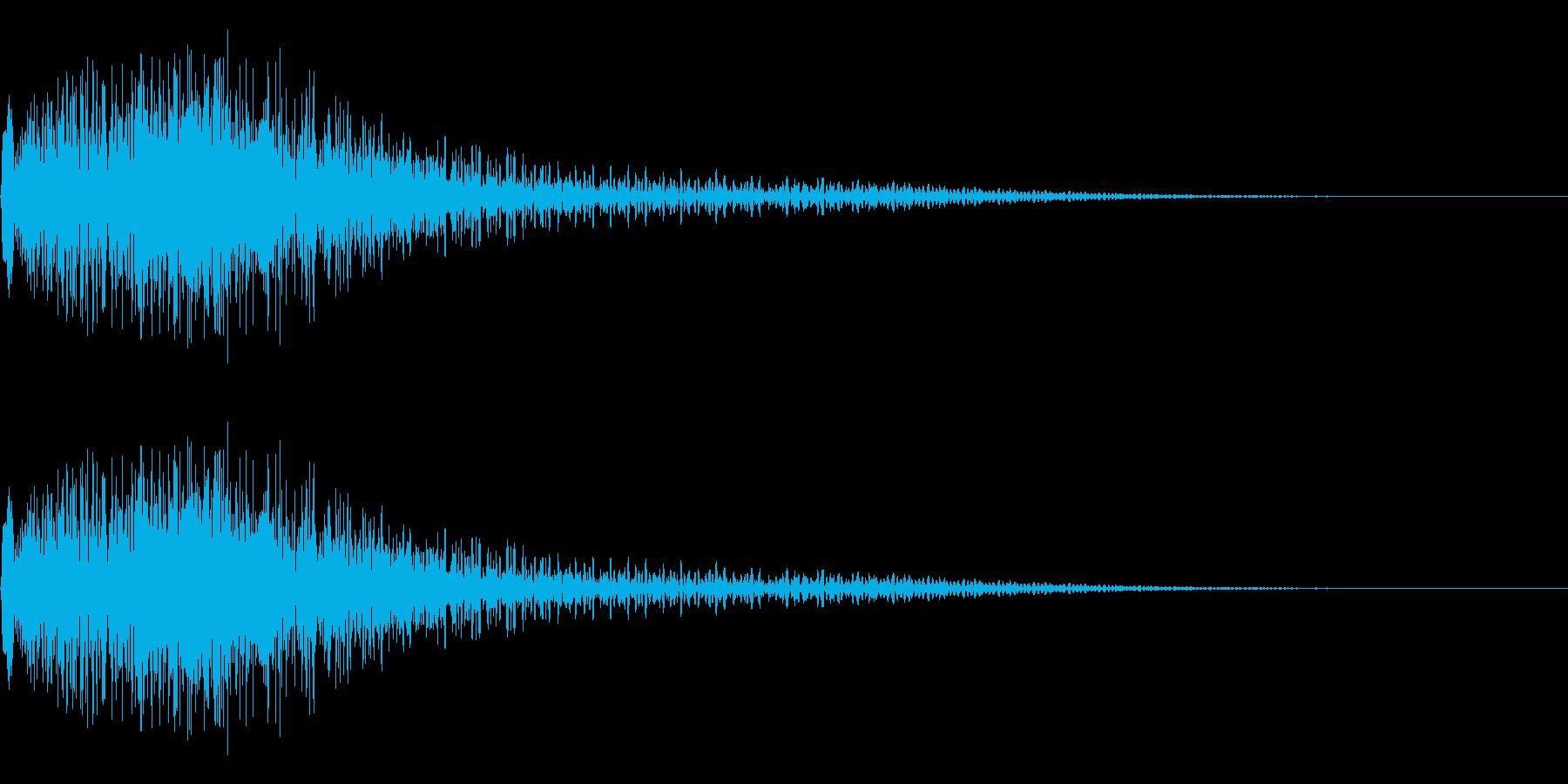 衝撃音(ギャン/ギョン)の再生済みの波形