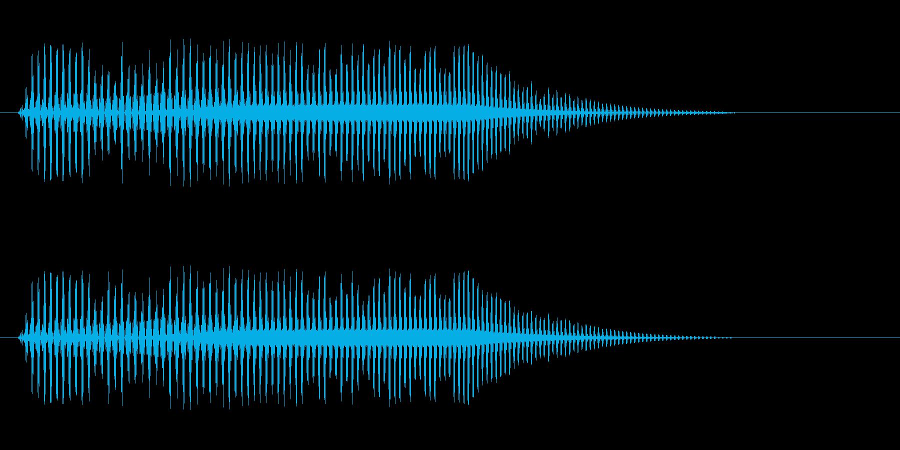 プゥウ(小さいオナラの音)の再生済みの波形