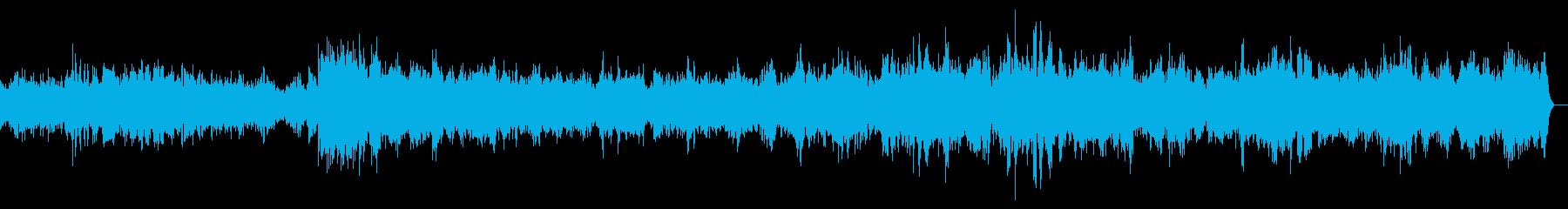 子どもたちがプールではしゃぐ声の再生済みの波形