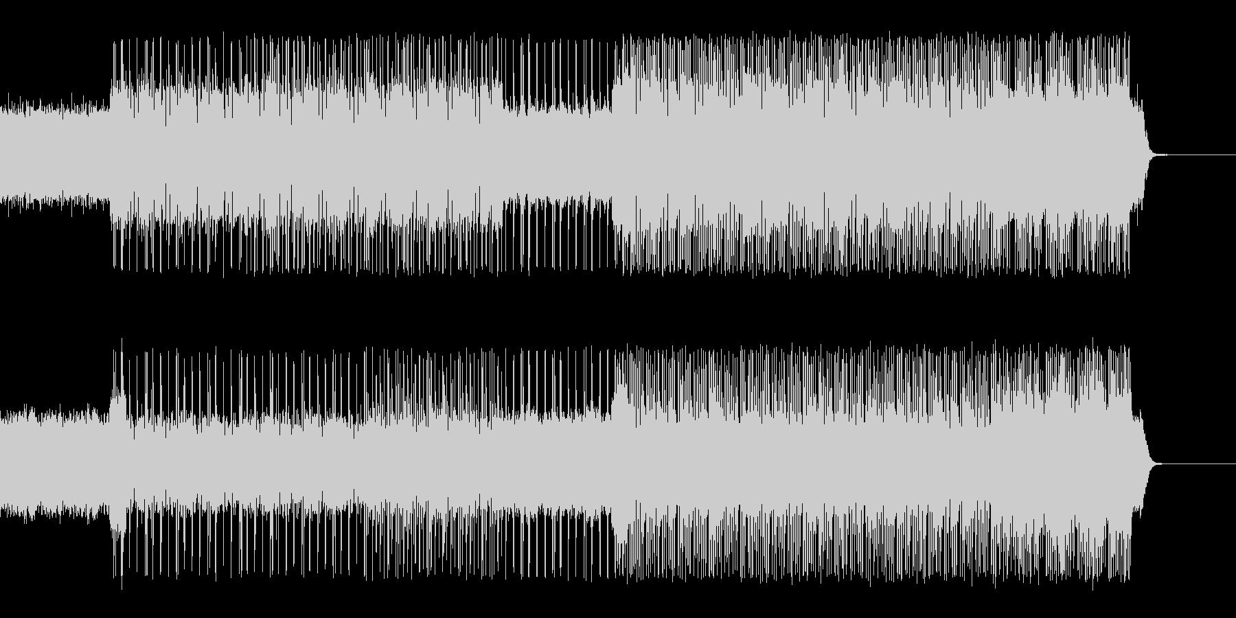 ロックなコードカッティングギターの未再生の波形