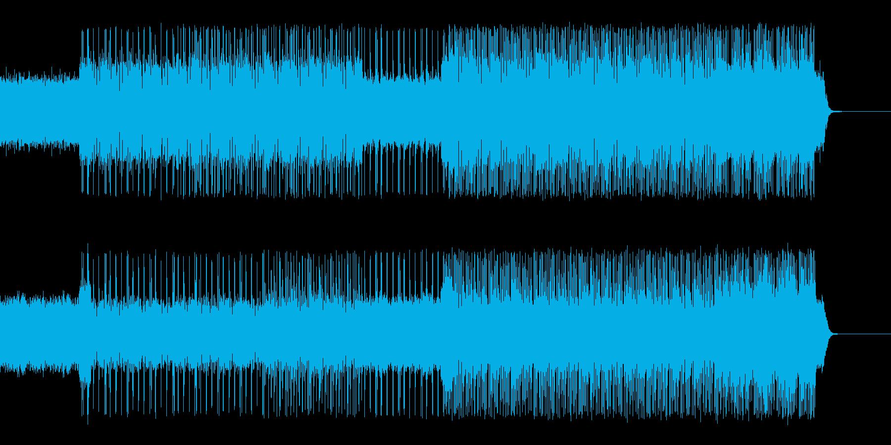 ロックなコードカッティングギターの再生済みの波形