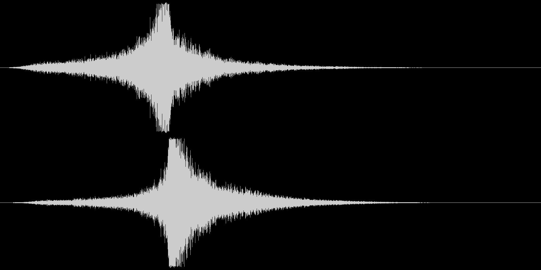 宇宙船・飛翔体#4通過 左〜右ゆっくりの未再生の波形