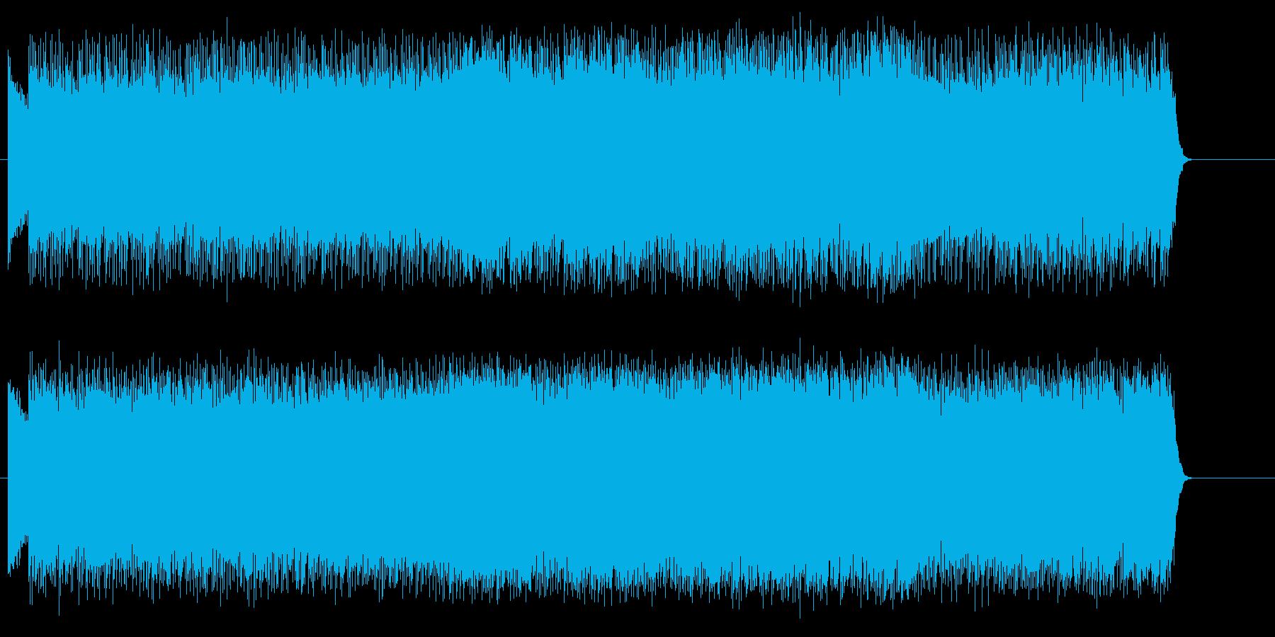 熱戦の火蓋を切る激しいメタル・ロックの再生済みの波形