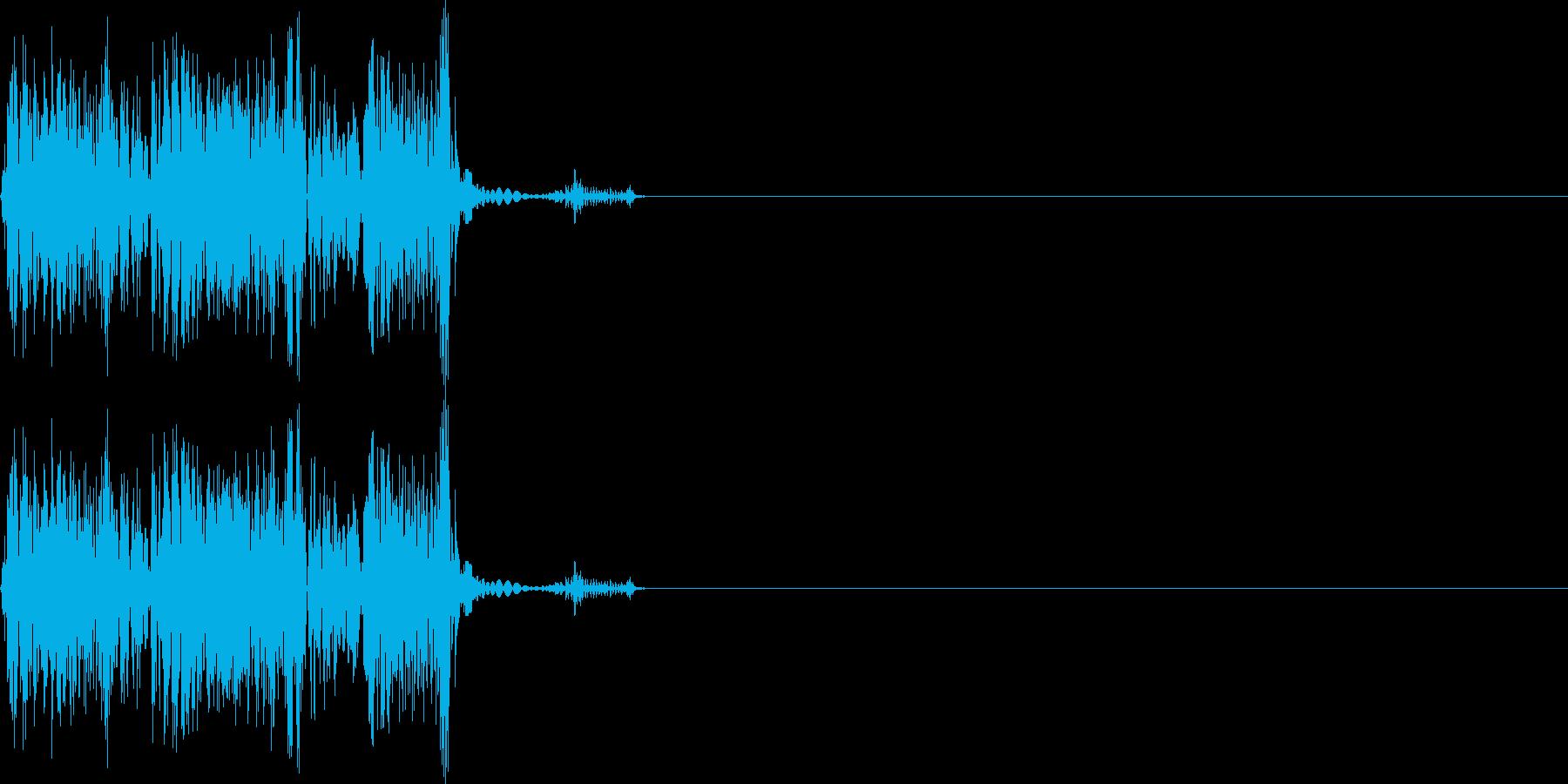 シュピッ(ダメージ_攻撃_逃げる_高音)の再生済みの波形
