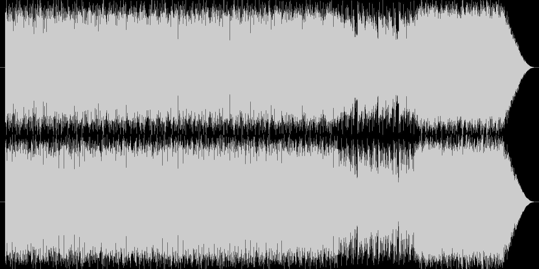 アクションゲーム風テクノBGMの未再生の波形
