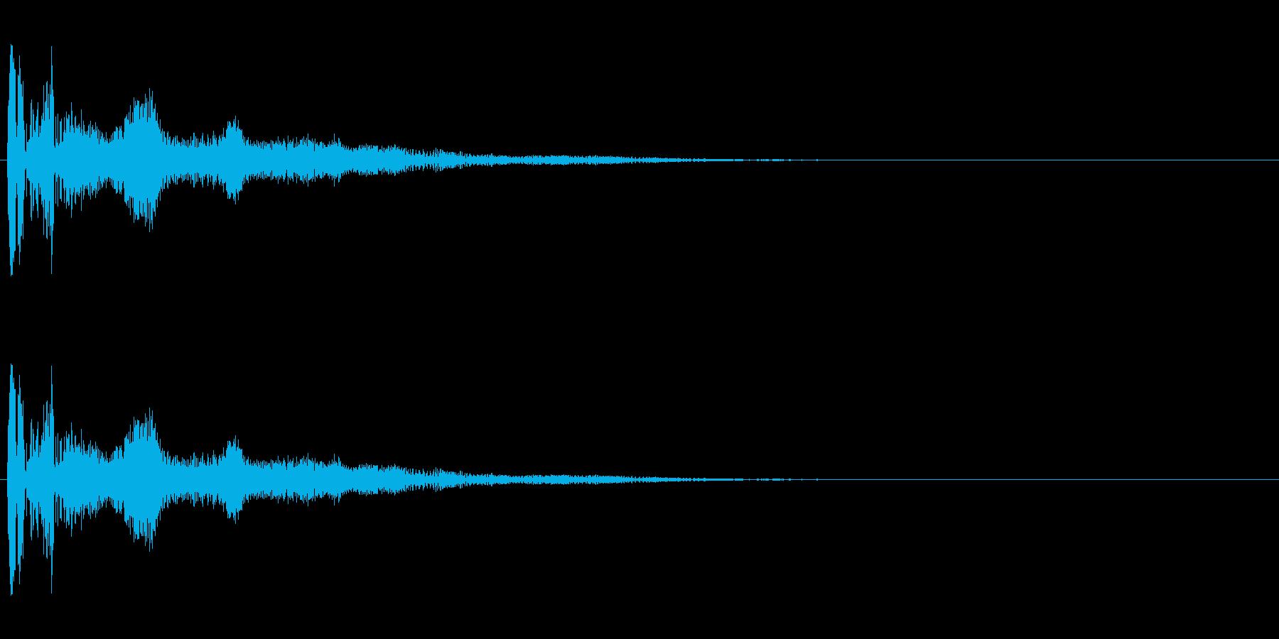 ボヨヨーン(低い)コミカル効果音の再生済みの波形