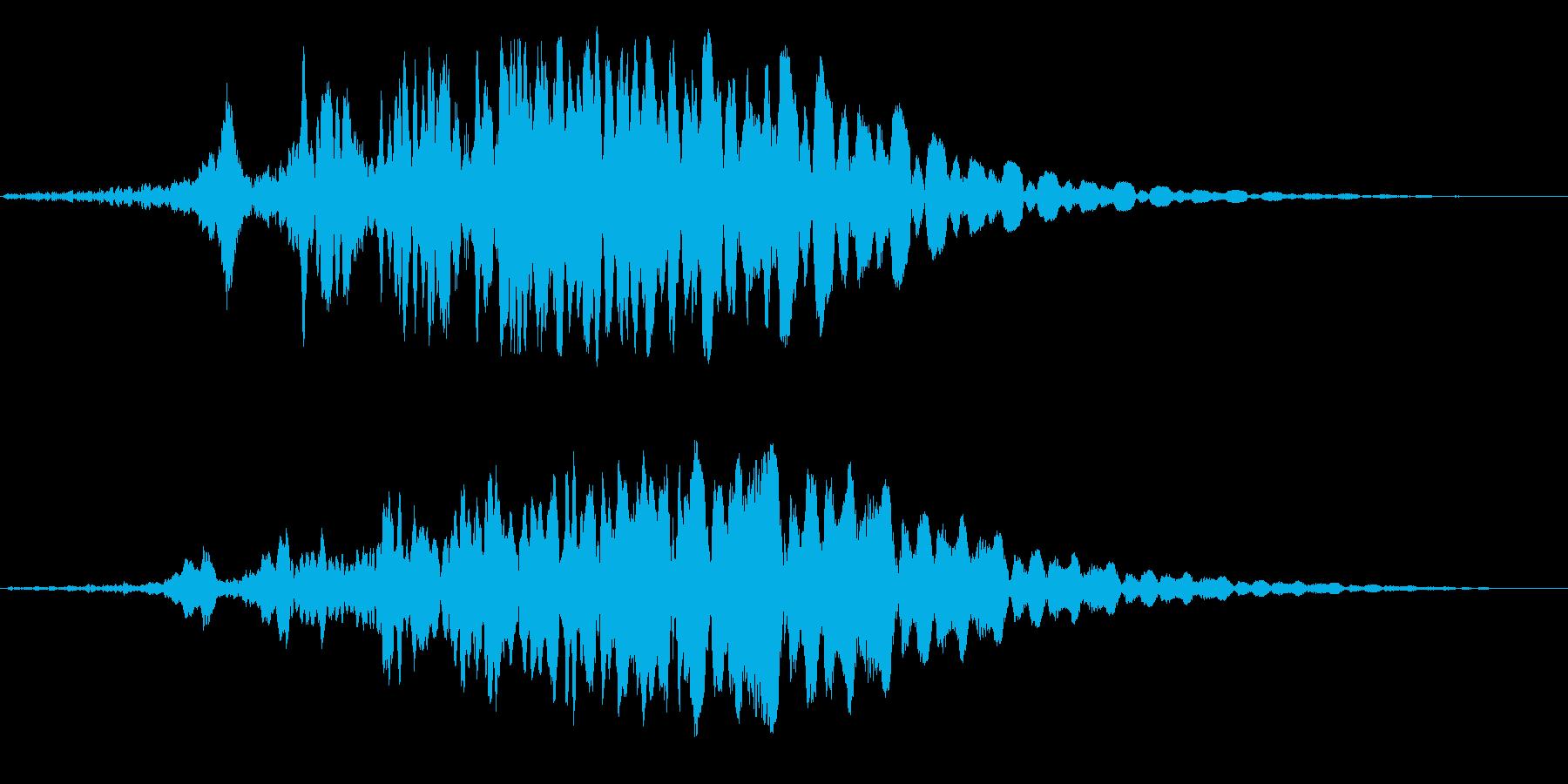 フゥワァーンと飛ぶ飛行物体の再生済みの波形