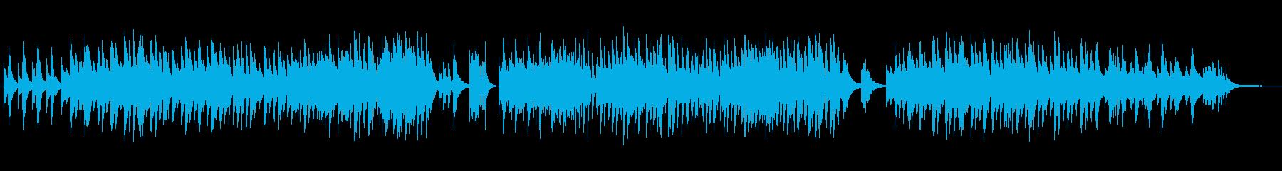 ゆったり癒し系のシンセ・ギターサウンドの再生済みの波形