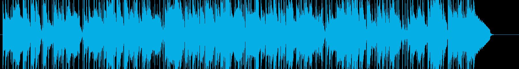 夏祭りをイメージした和楽器BGMの再生済みの波形
