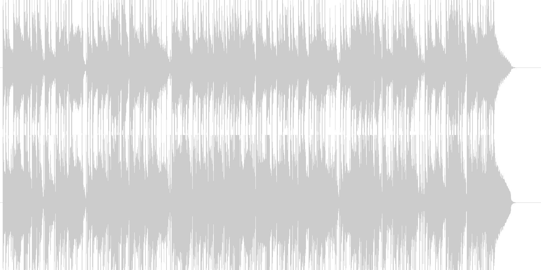 夏祭りをイメージした和楽器BGMの未再生の波形