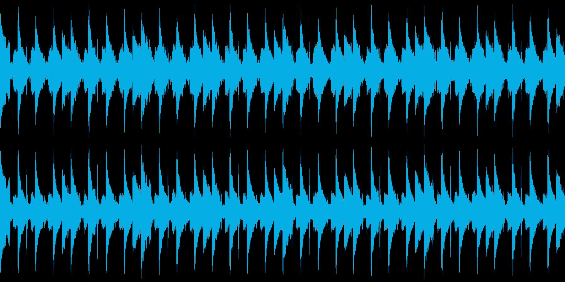 エレクトロサウンドにロボットボイスの再生済みの波形