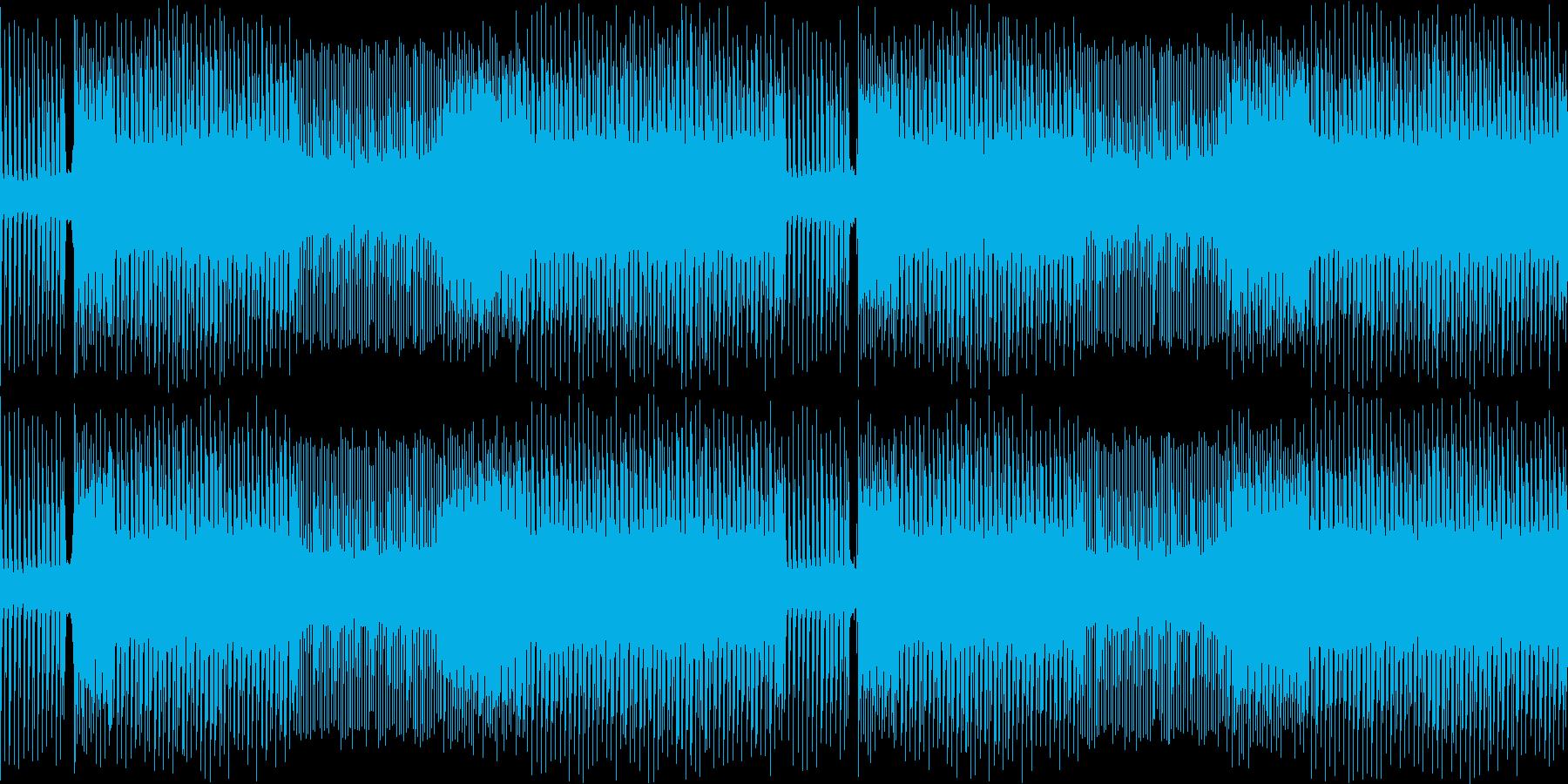 激しく忙しない雰囲気のメタルサウンドの再生済みの波形