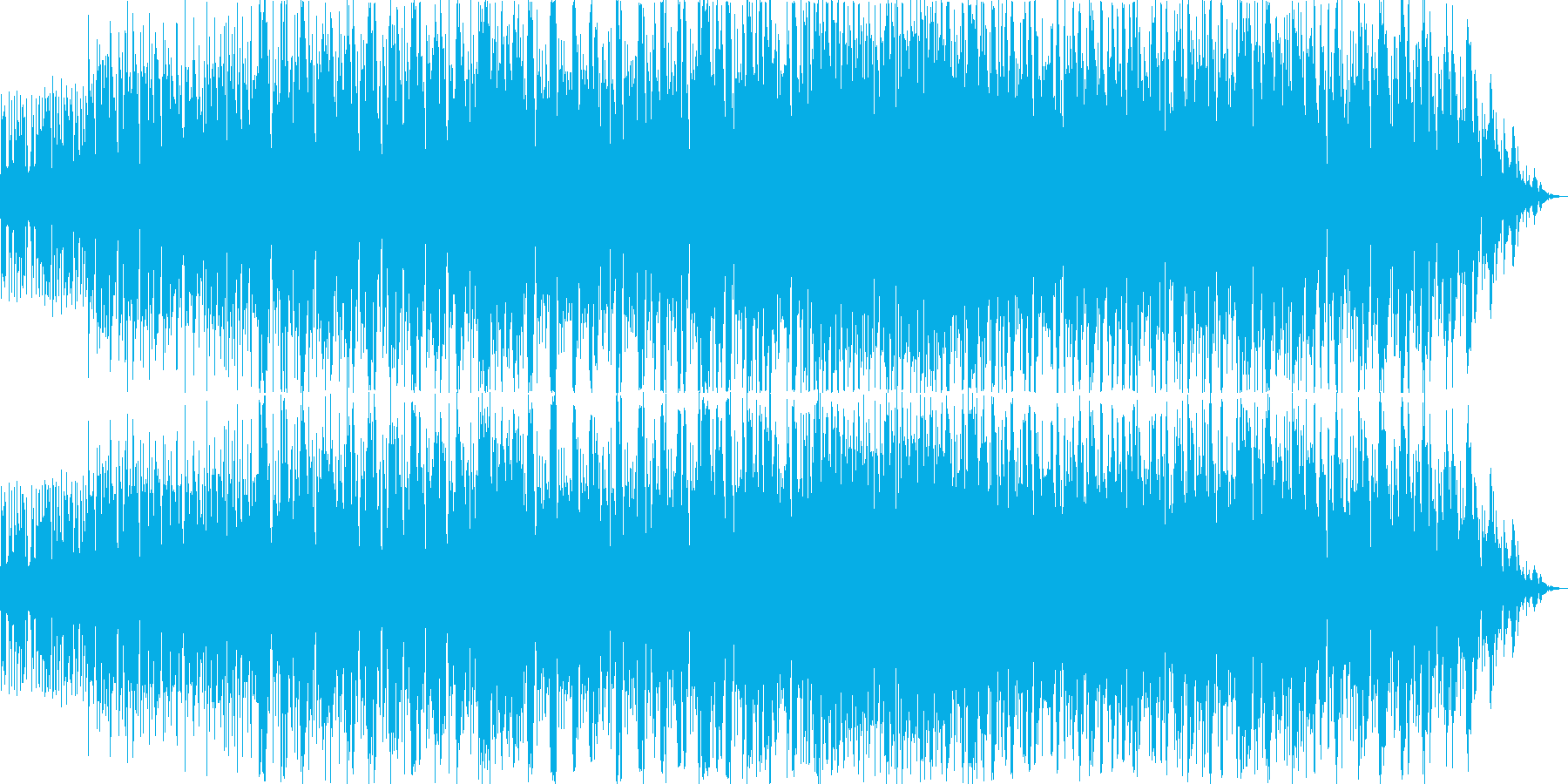 愉快な感じのルンバのリズムのブルースの再生済みの波形