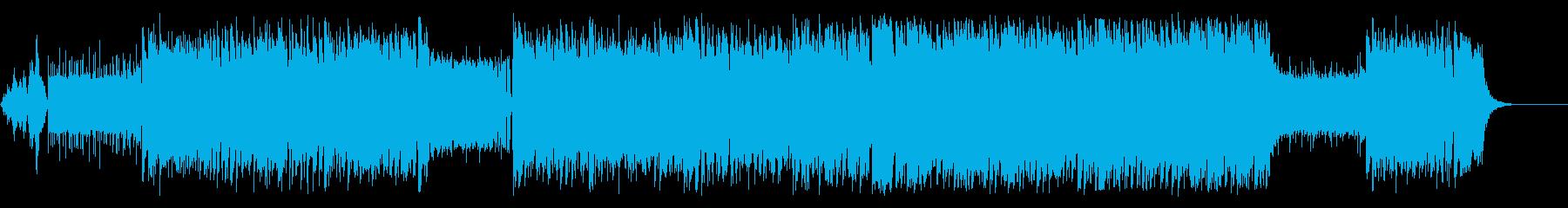 疾走感あふれる明るく楽しいBGMの再生済みの波形