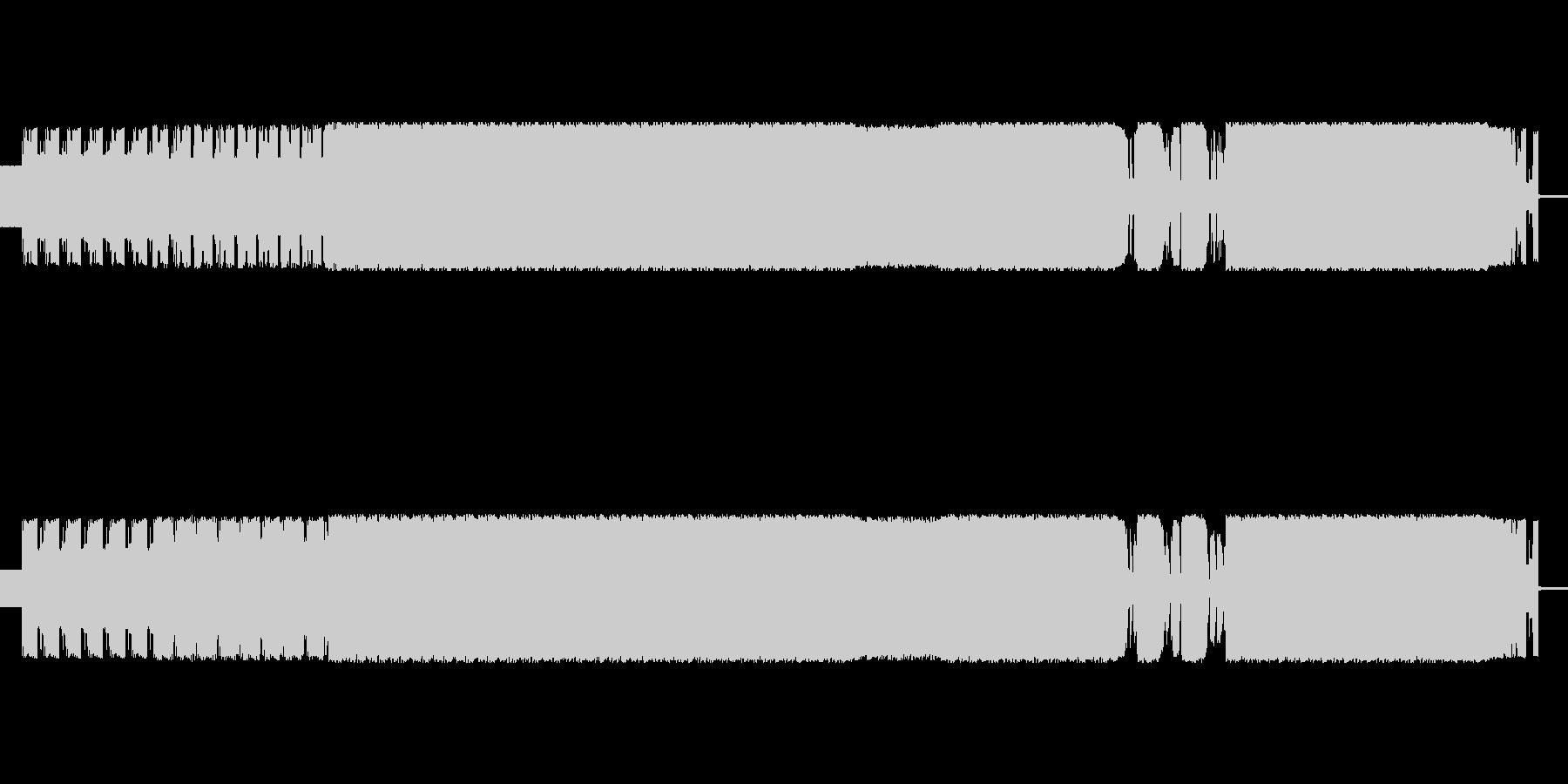 歪んだ音のエレクトロミュージックの未再生の波形