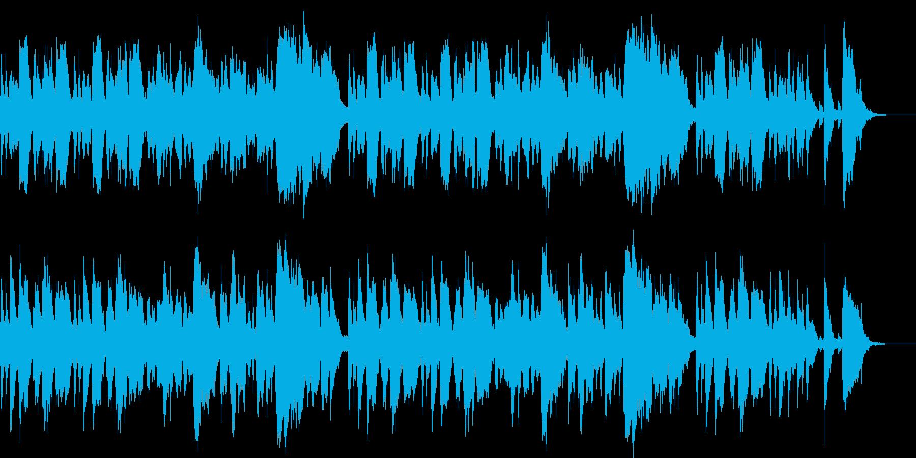 ほのぼのとした雰囲気のオーケストラ曲の再生済みの波形