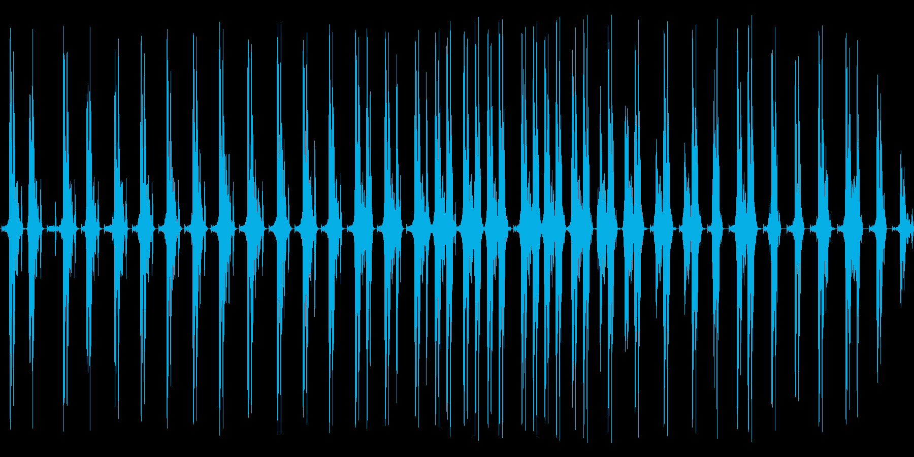 グググギリギリ。締め上げる音の再生済みの波形