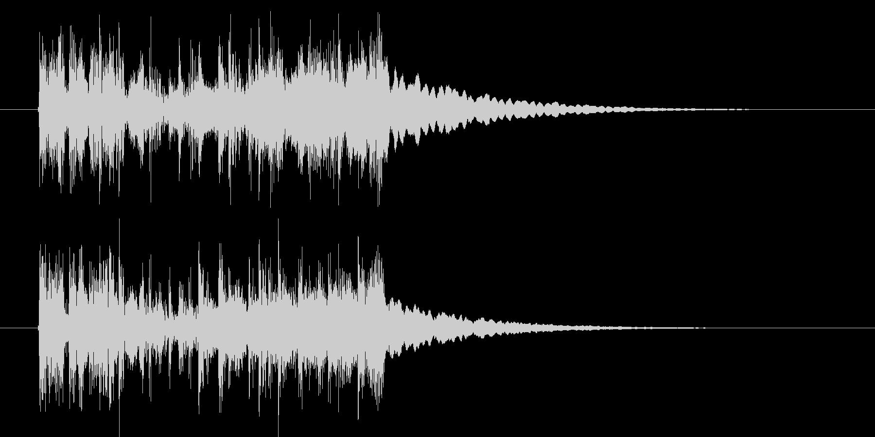 力強いシンセサイザーの音の未再生の波形