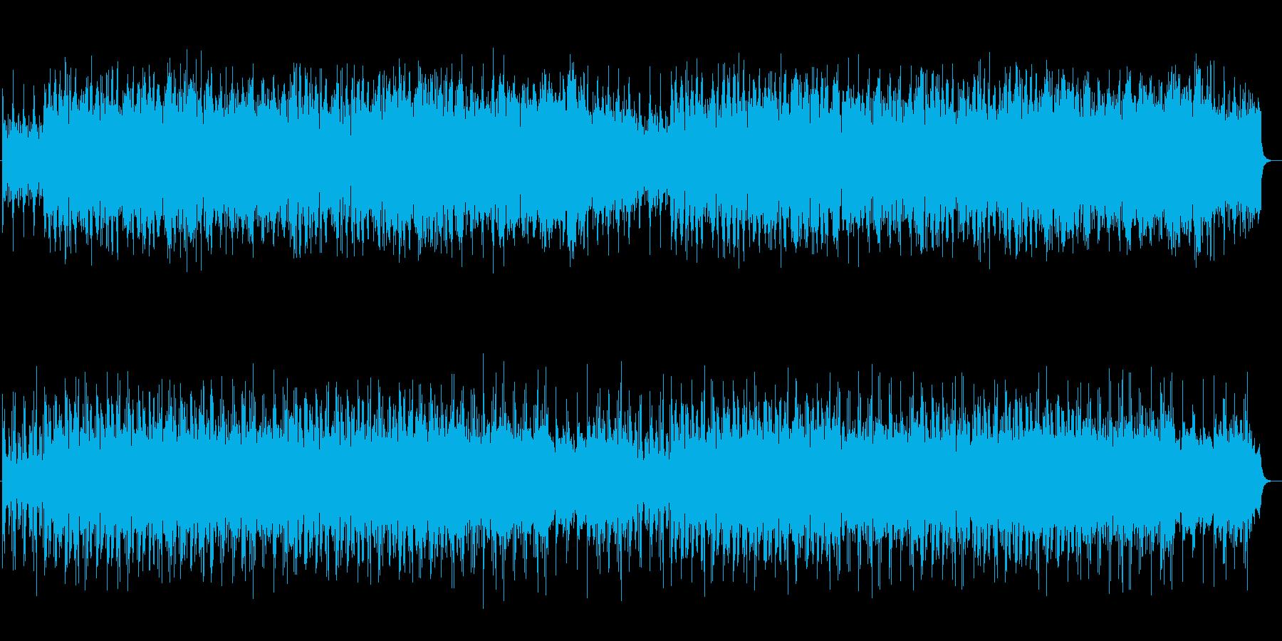 幻想的で神秘的なシンセメロディーの再生済みの波形