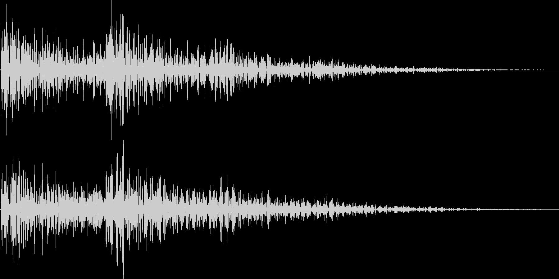ビュワン(ネガティブ、キャンセル)の未再生の波形