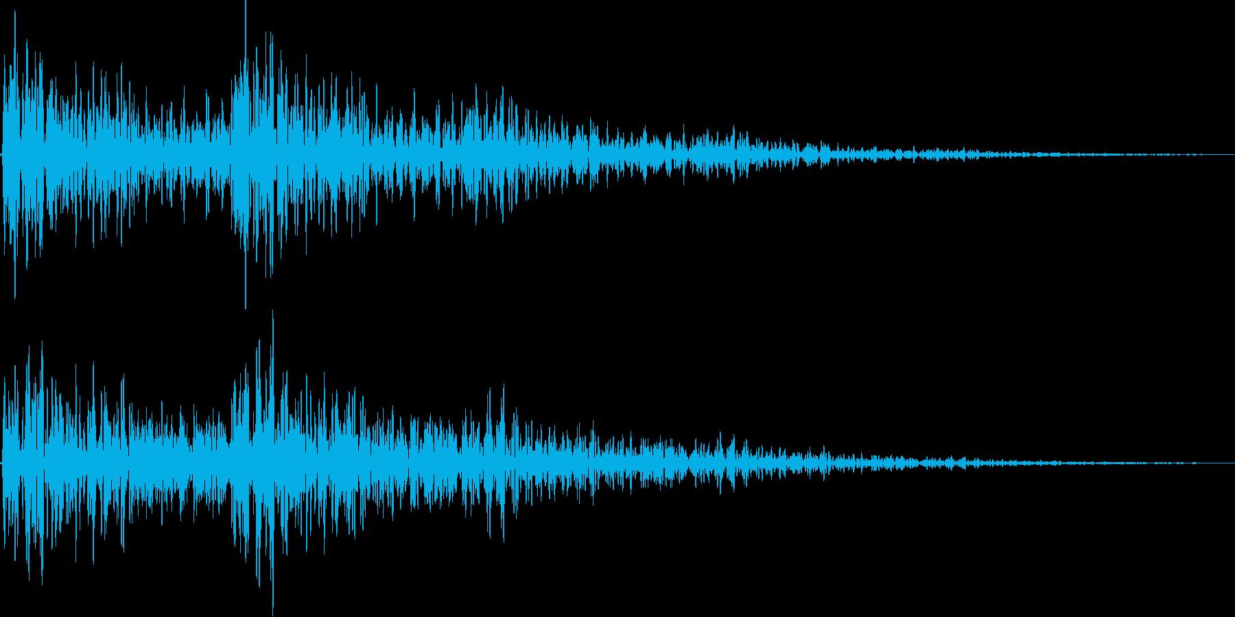 ビュワン(ネガティブ、キャンセル)の再生済みの波形