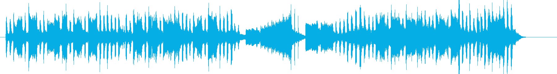明るい楽しいオルガンシンセサウンドの再生済みの波形