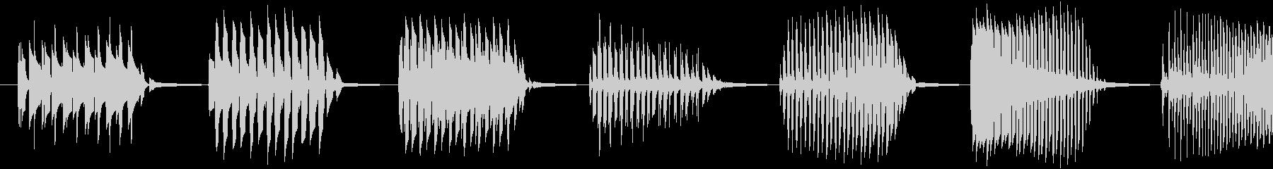 【クイズ】キレの良い出題音の未再生の波形