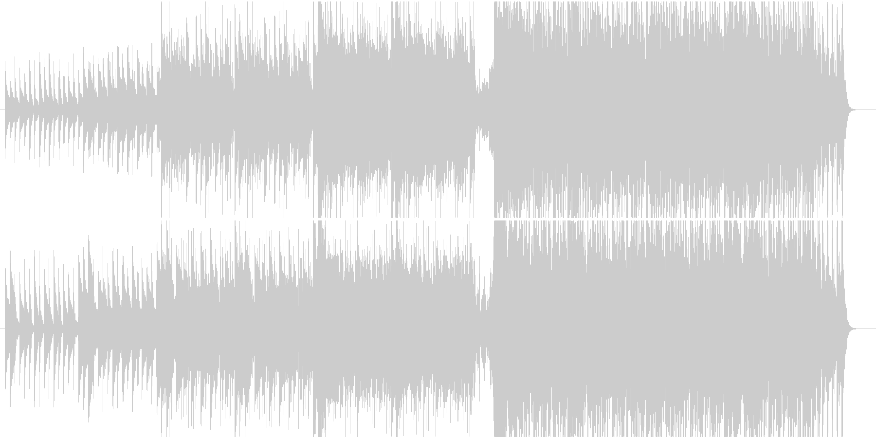 親しみやすく信頼感のあるドレミのマーチの未再生の波形