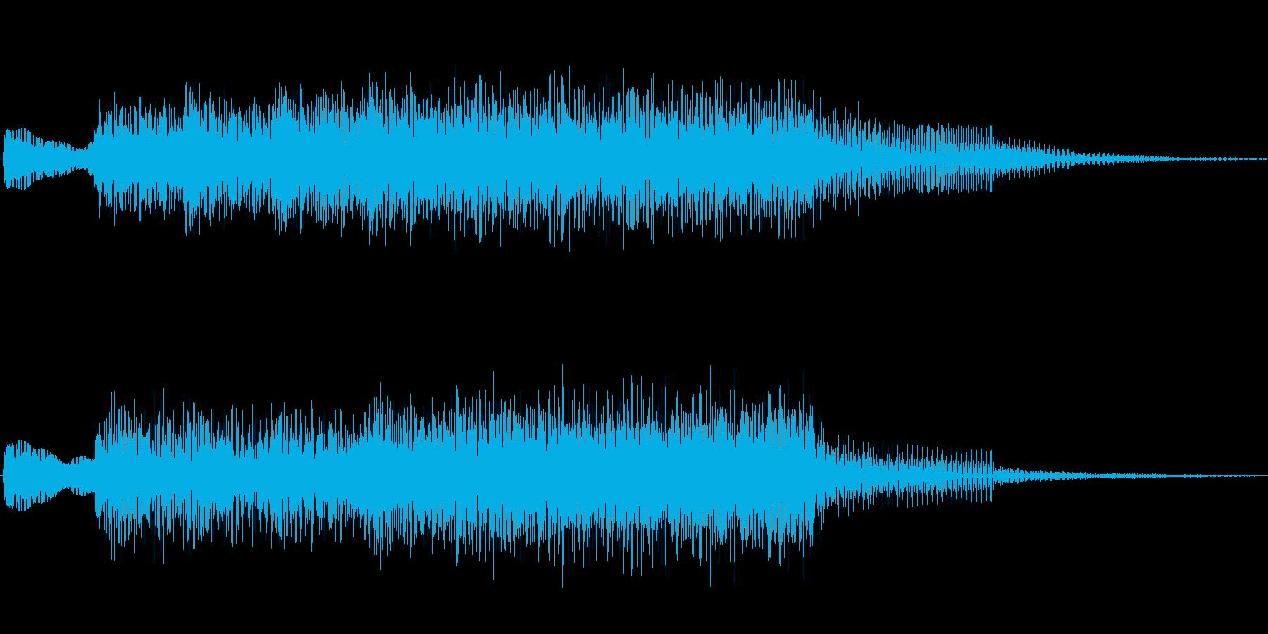 ジングル101gの再生済みの波形