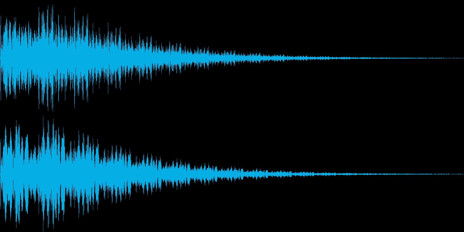 魔法「ぽよーん」の再生済みの波形