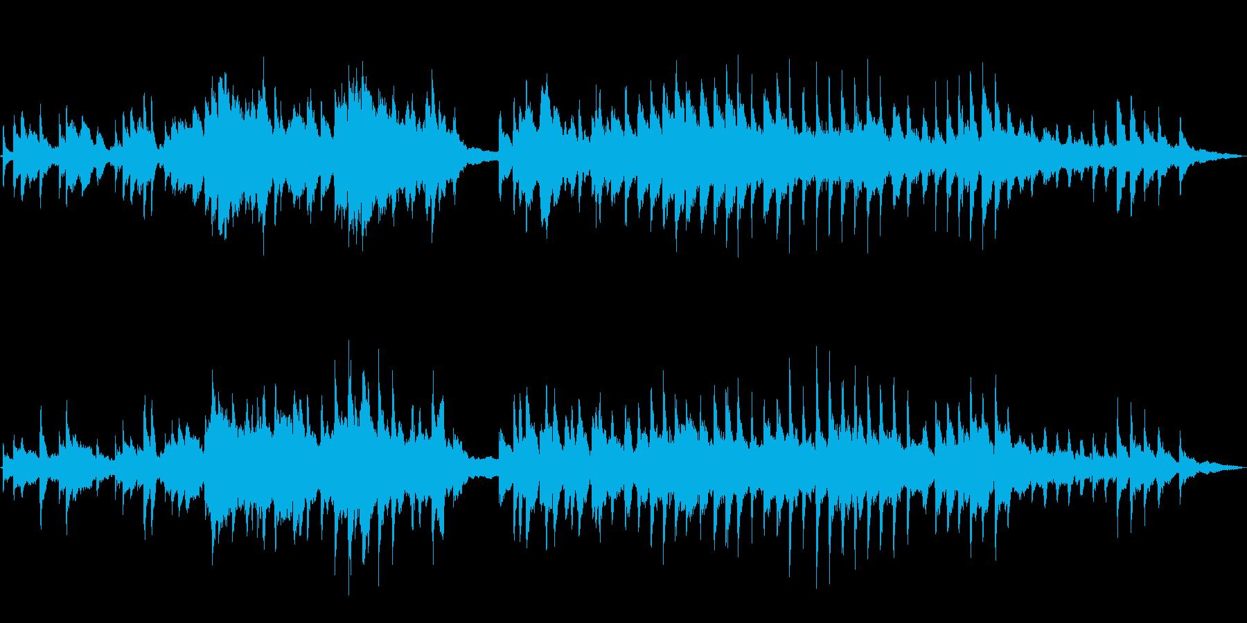 ほんのり切ないクリスマス優しいピアノソロの再生済みの波形