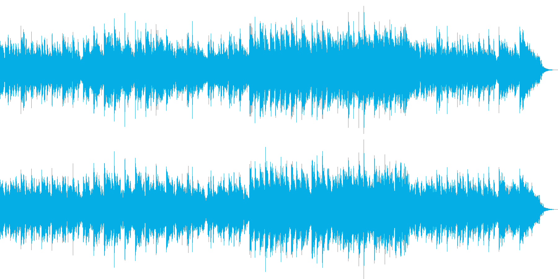 なつかしい気持ちになるオルゴールの再生済みの波形