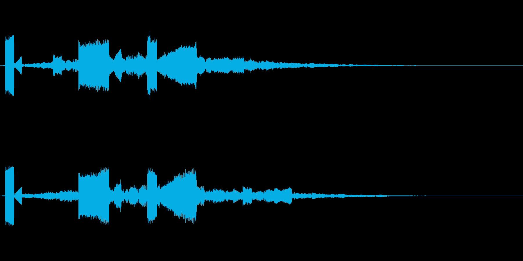 サウンドロゴ、スタート音。宇宙 不思議の再生済みの波形