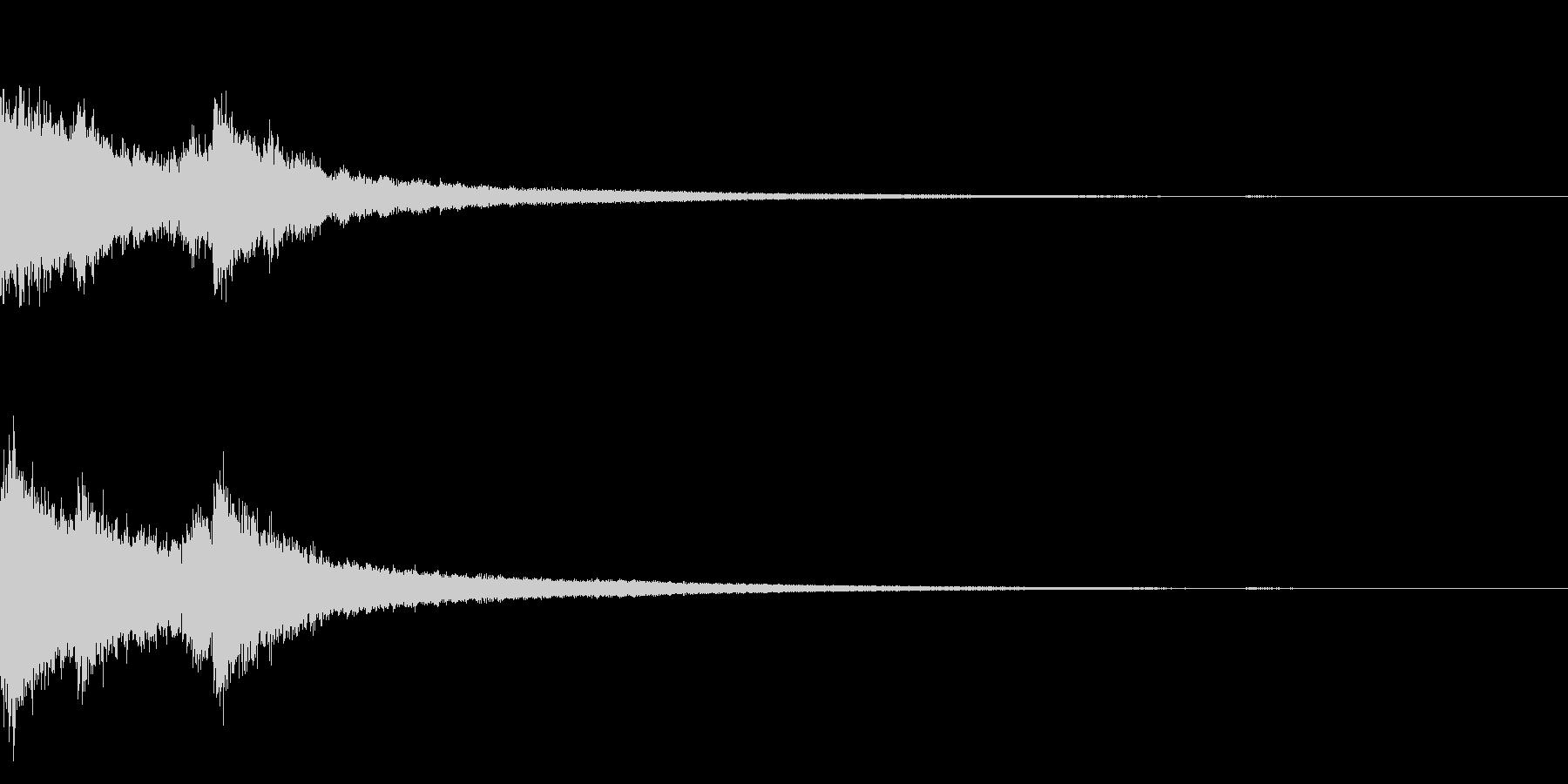 チャイナ 中国 インパクト ジングル14の未再生の波形