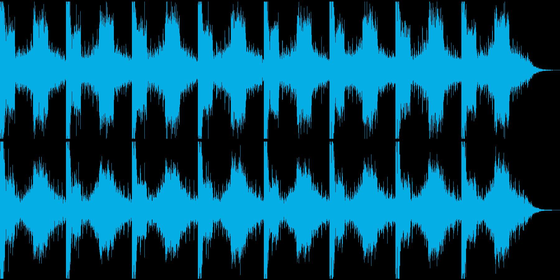 ニュースに使いそうな曲の再生済みの波形