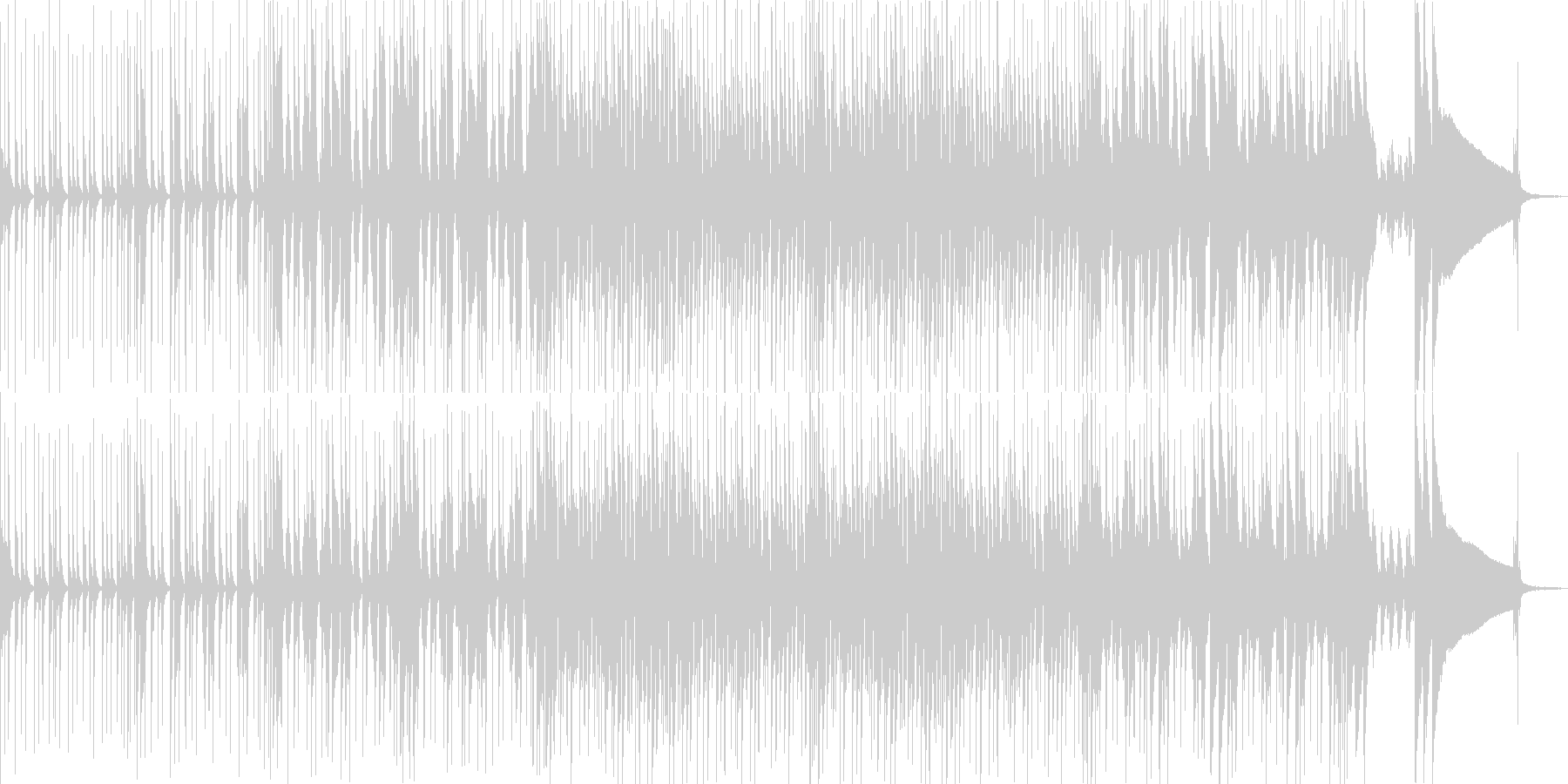 爽快なドラムとピアノのポップロックの未再生の波形