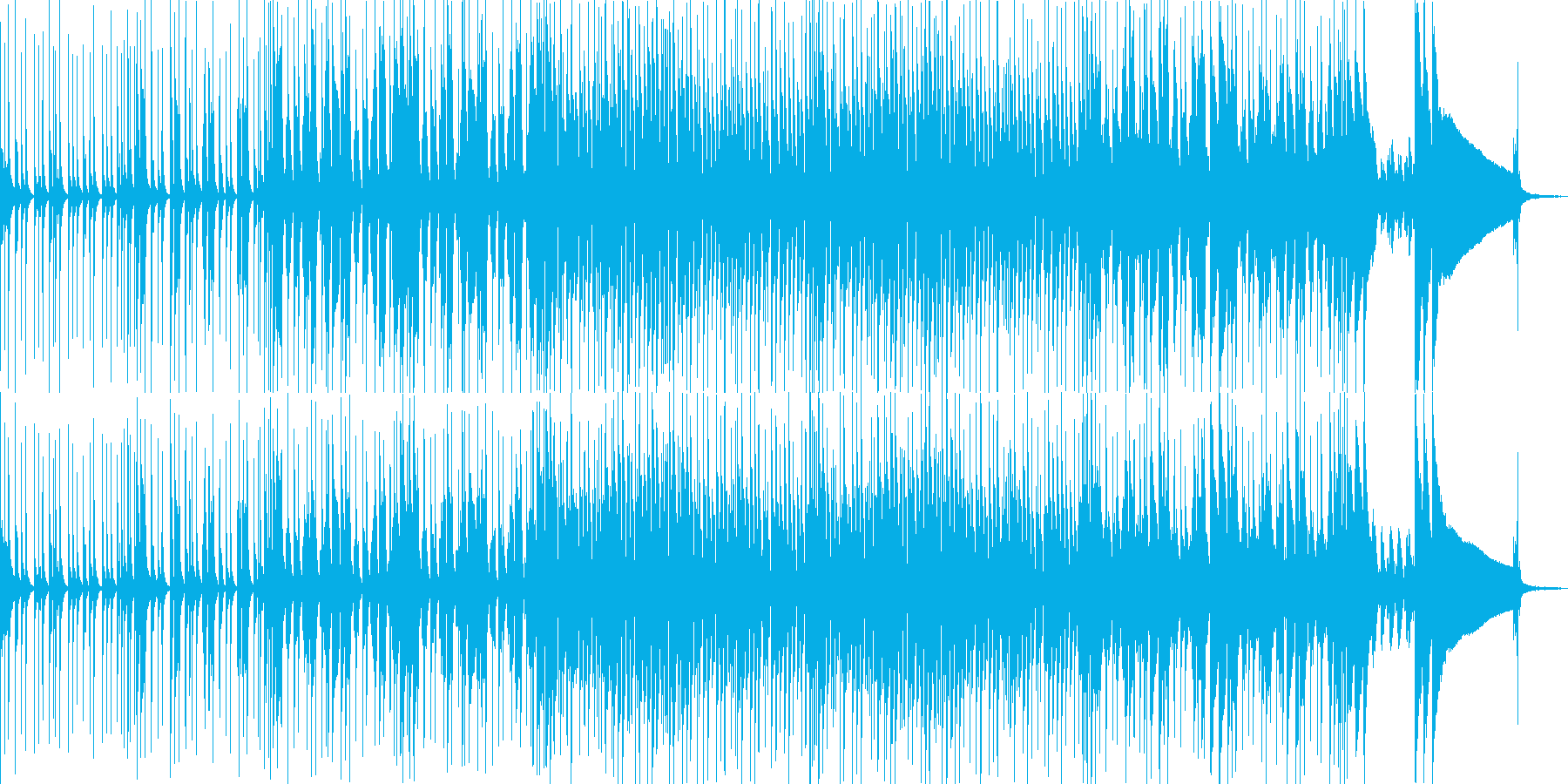 爽快なドラムとピアノのポップロックの再生済みの波形