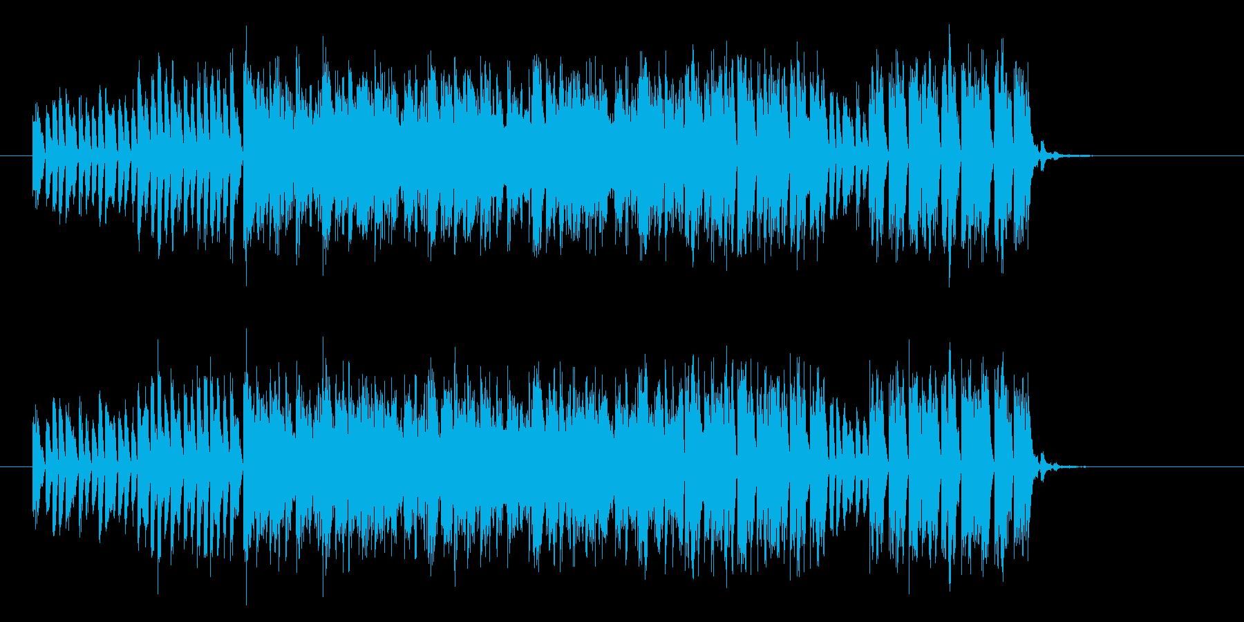 サイバーな雰囲気のトランステクノジングルの再生済みの波形